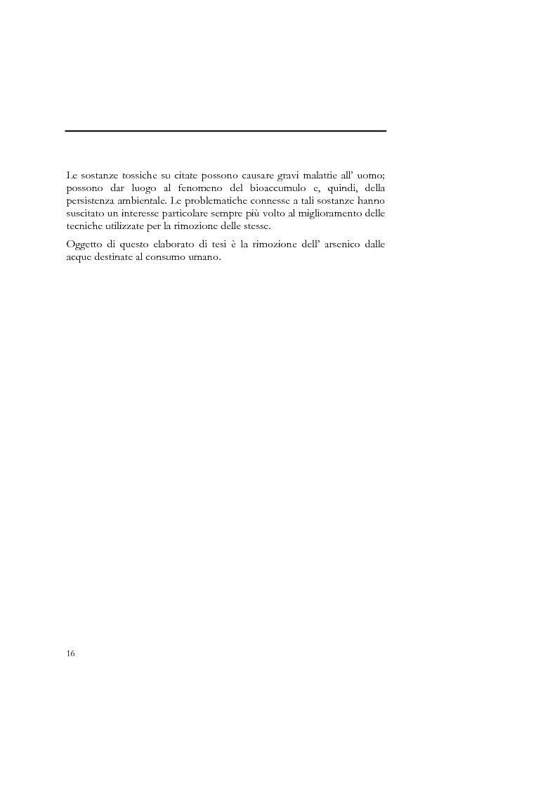 Anteprima della tesi: Indagine sull'applicabilità del chitosano nella rimozione di ioni arseniato dalle acque destinate al consumo umano, Pagina 4