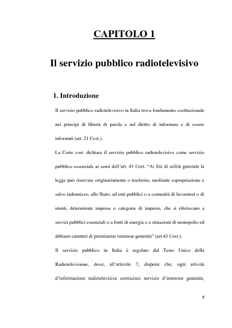 Anteprima della tesi: Il Servizio Pubblico e la Radio di Servizio: Il caso Italia Istruzioni per L'uso, Pagina 7