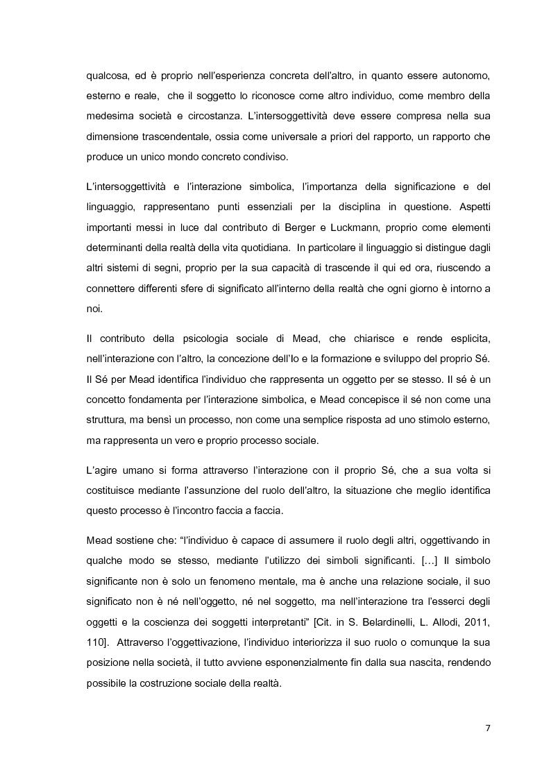 Anteprima della tesi: Costruzione sociale della realtà e vita quotidiana: il contributo di Berger e Luckmann alla sociologia della conoscenza, Pagina 6