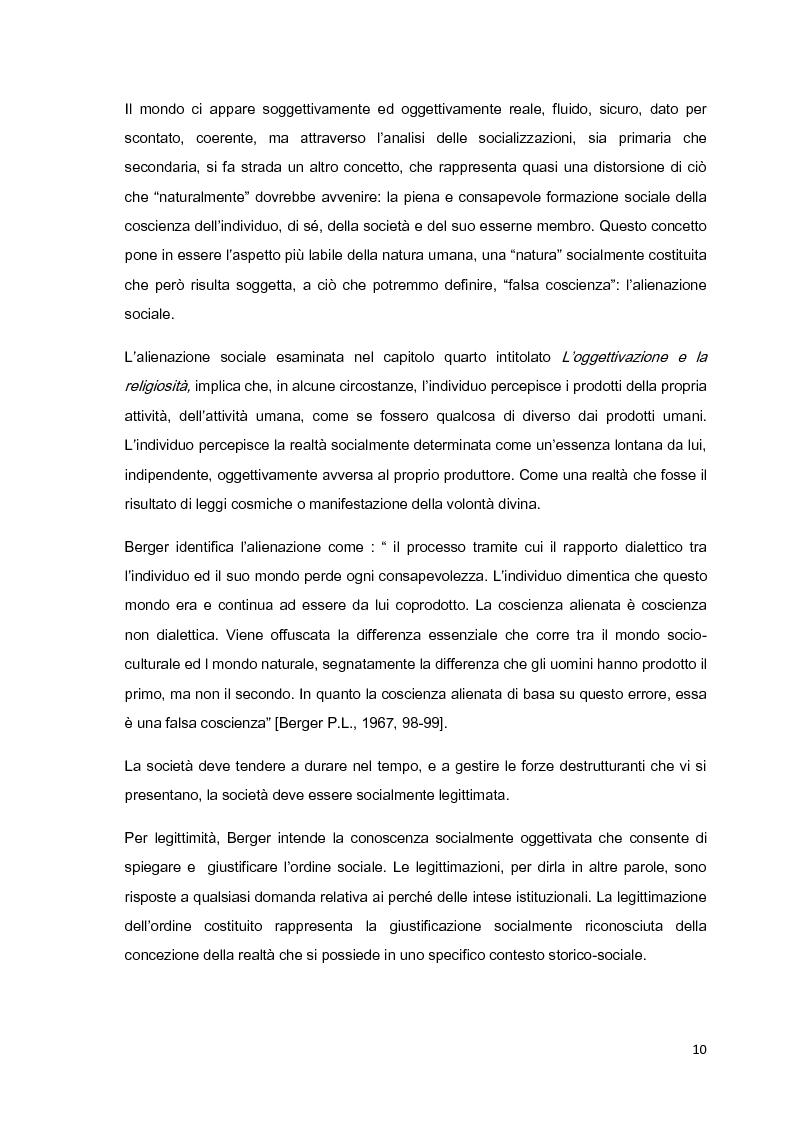 Anteprima della tesi: Costruzione sociale della realtà e vita quotidiana: il contributo di Berger e Luckmann alla sociologia della conoscenza, Pagina 9