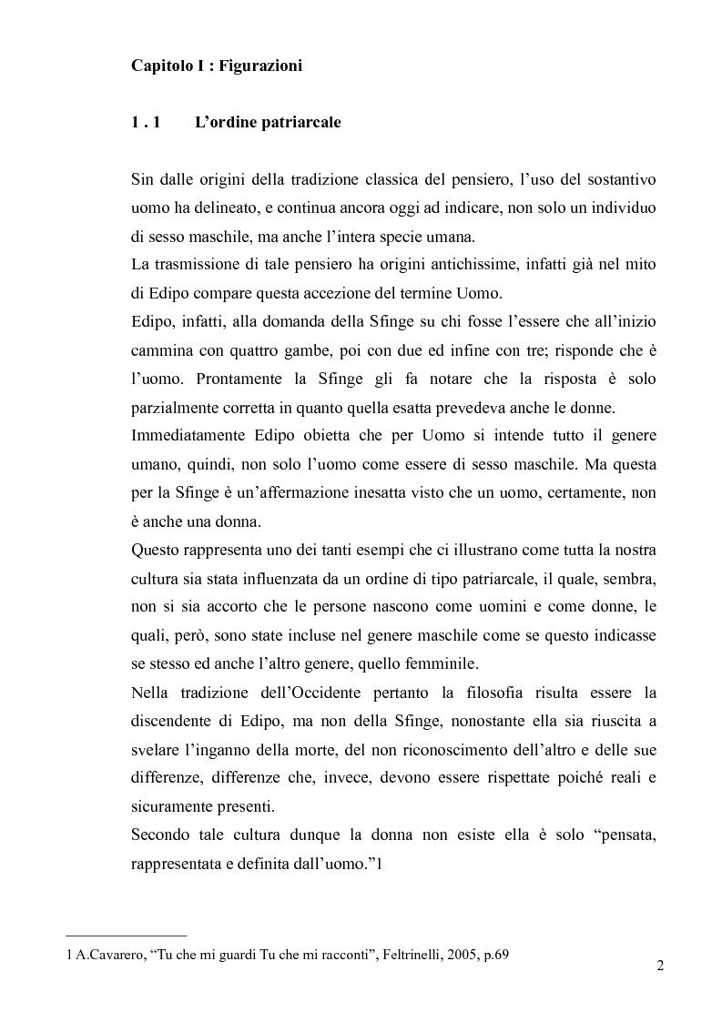Anteprima della tesi: Ironia Femminile tra Storia Patriarcale e Psicoanalisi Freudiana, Pagina 2