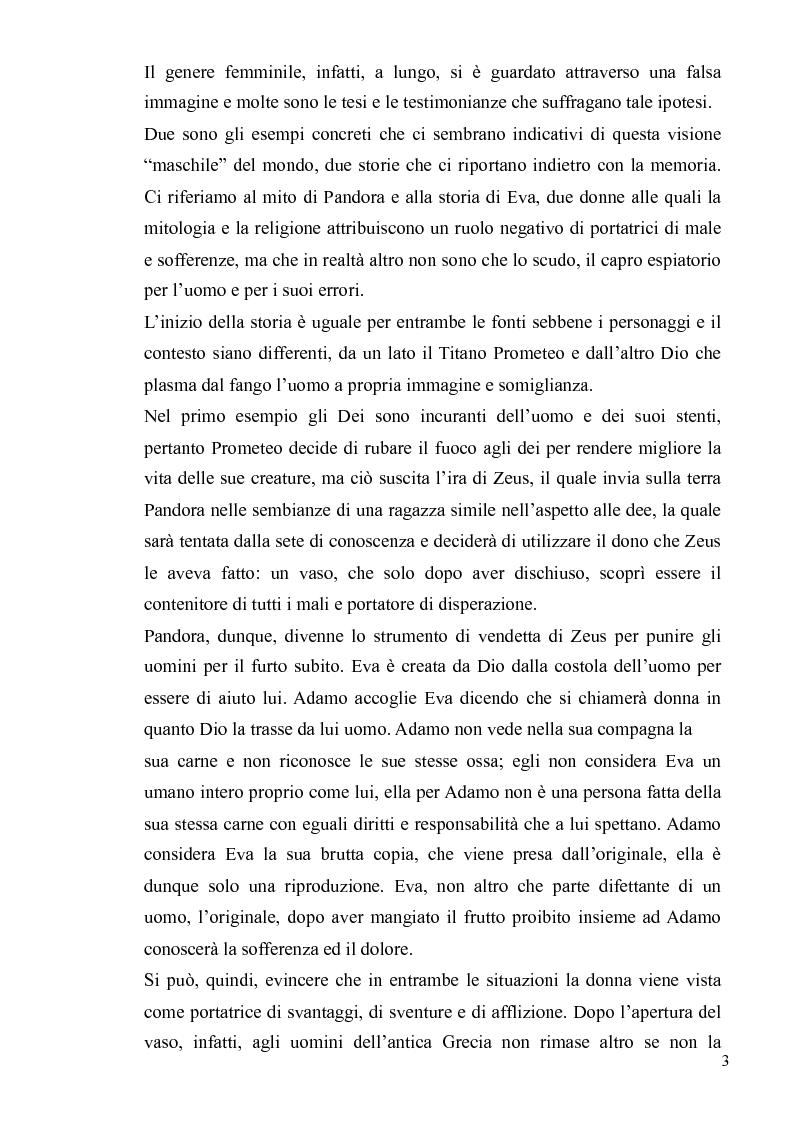 Anteprima della tesi: Ironia Femminile tra Storia Patriarcale e Psicoanalisi Freudiana, Pagina 3