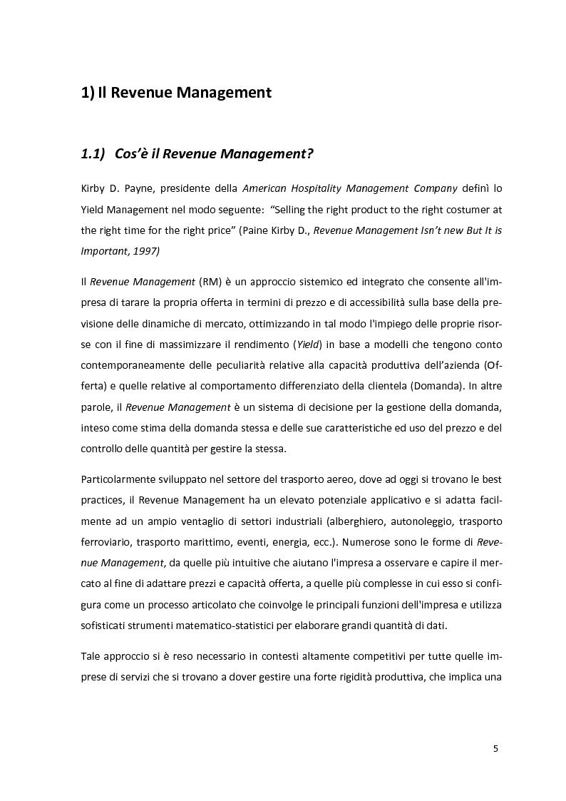 Anteprima della tesi: Il Revenue Management Nel Trasporto Aereo, Pagina 2