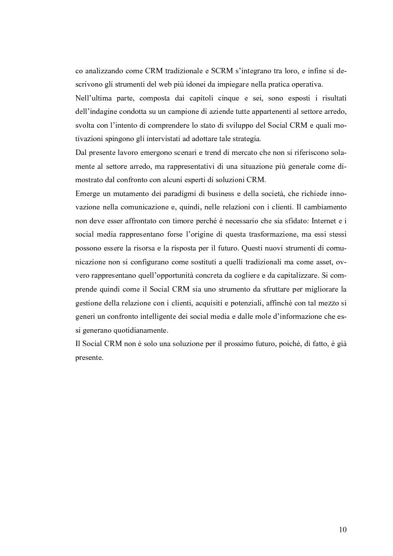Anteprima della tesi: Social CRM: l'utilizzo di strumenti social come estensione del CRM aziendale. Strategie e scenari nel settore arredo., Pagina 4