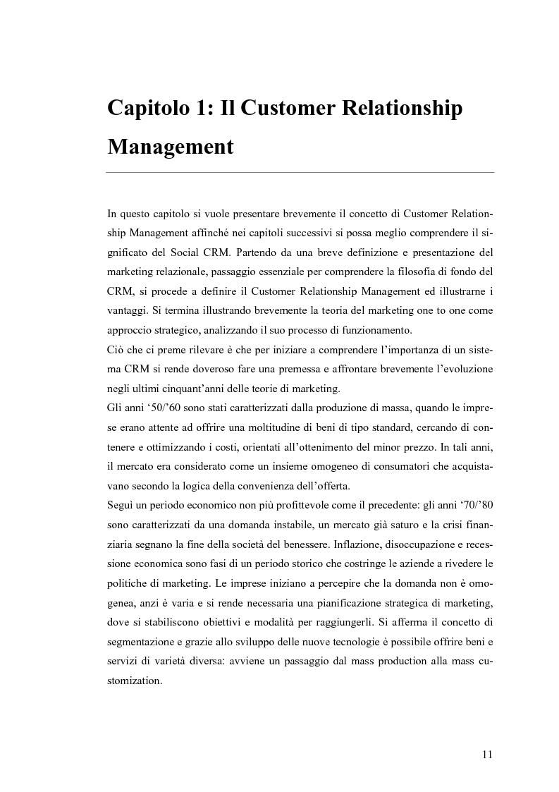 Anteprima della tesi: Social CRM: l'utilizzo di strumenti social come estensione del CRM aziendale. Strategie e scenari nel settore arredo., Pagina 5