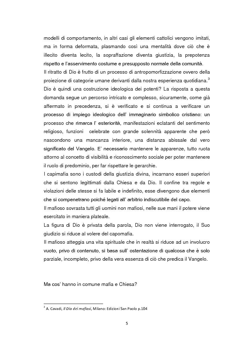 Anteprima della tesi: La Chiesa di fronte alla mafia: 1945-2000, Pagina 4