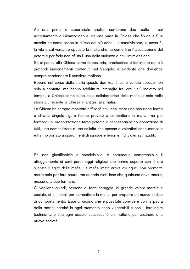 Anteprima della tesi: La Chiesa di fronte alla mafia: 1945-2000, Pagina 5