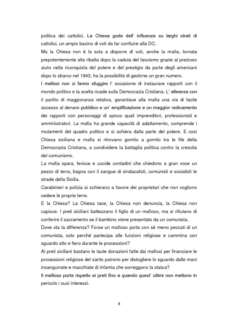 Anteprima della tesi: La Chiesa di fronte alla mafia: 1945-2000, Pagina 7