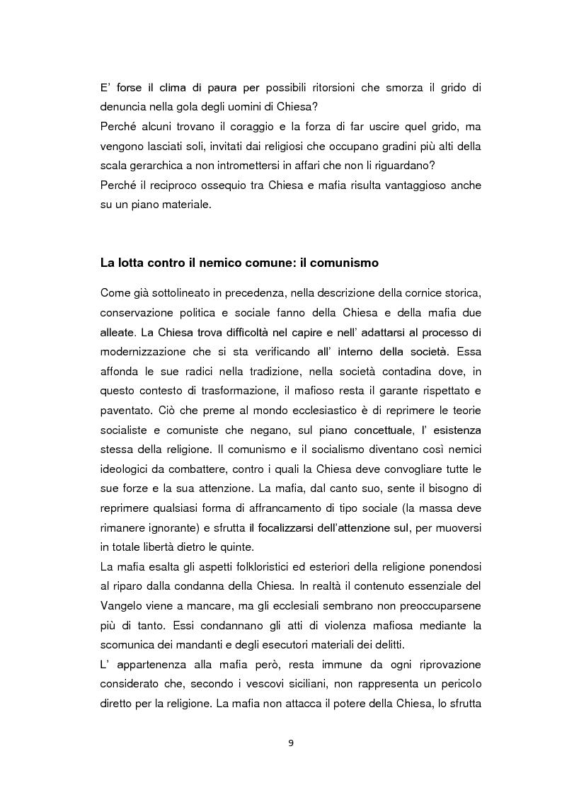 Anteprima della tesi: La Chiesa di fronte alla mafia: 1945-2000, Pagina 8
