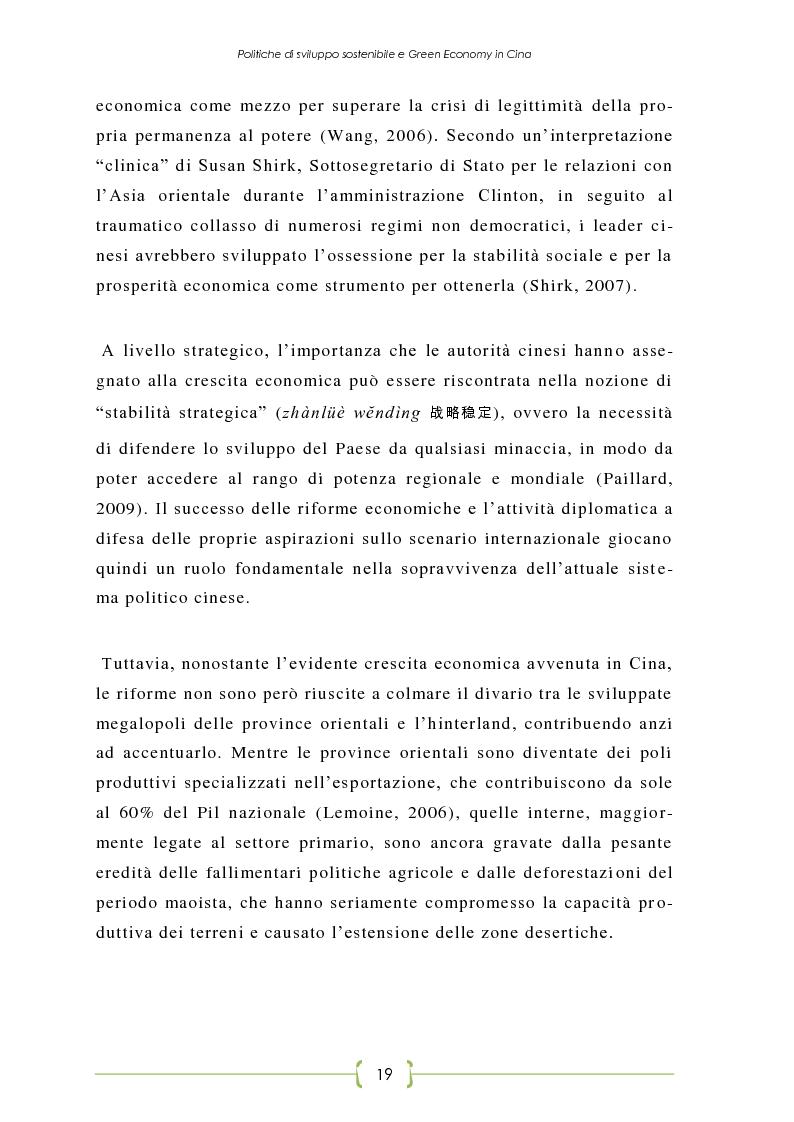 Anteprima della tesi: L'Oriente è Green - Politiche di sviluppo sostenibile e Green Economy in Cina, Pagina 12