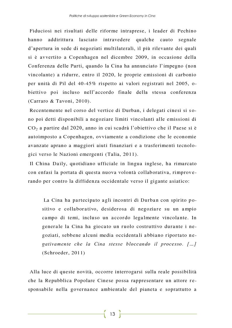 Anteprima della tesi: L'Oriente è Green - Politiche di sviluppo sostenibile e Green Economy in Cina, Pagina 6