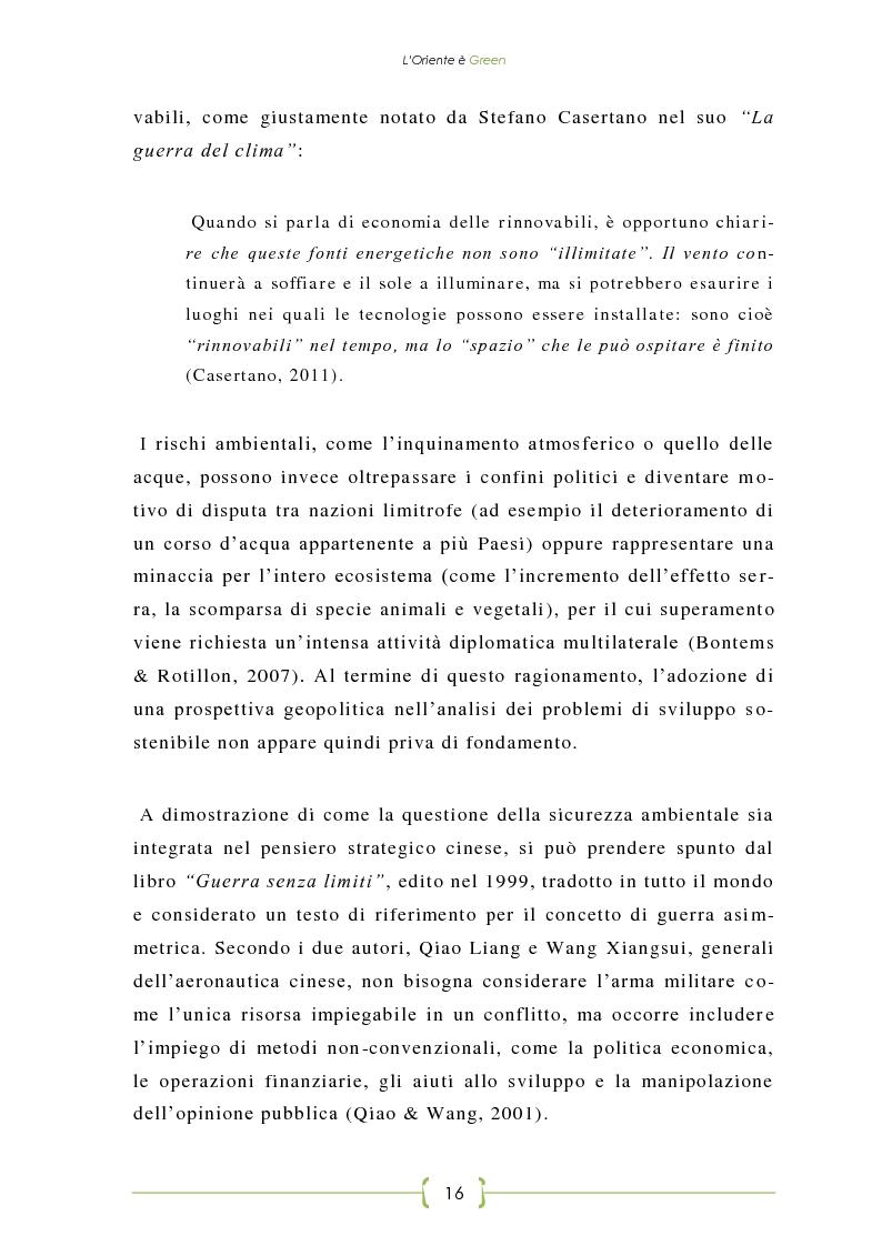 Anteprima della tesi: L'Oriente è Green - Politiche di sviluppo sostenibile e Green Economy in Cina, Pagina 9