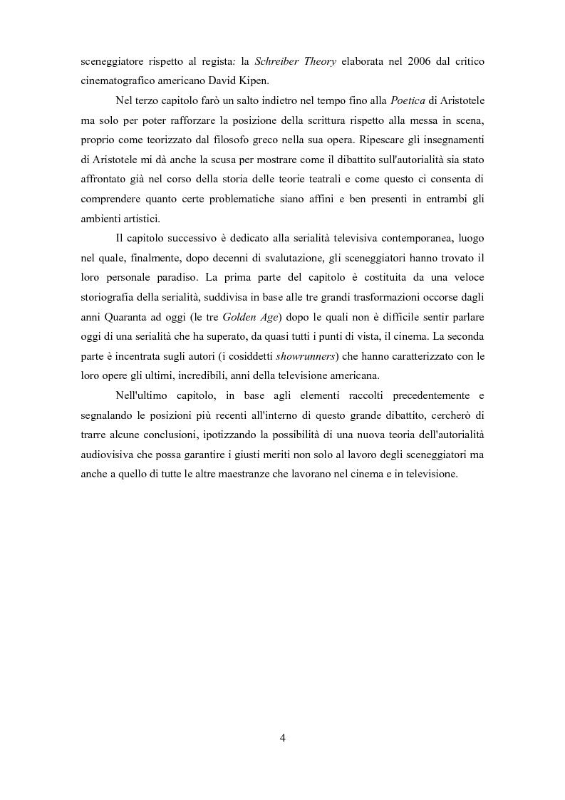 Anteprima della tesi: Politiche autoriali. Sceneggiatura contro regia, da Aristotele alle serie tv contemporanee, Pagina 3