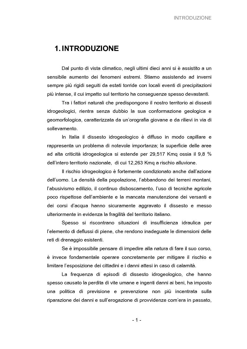 Anteprima della tesi: Analisi della vulnerabilità del territorio del bacino idrografico del fiume Musone mediante strumenti G.I.S., Pagina 3