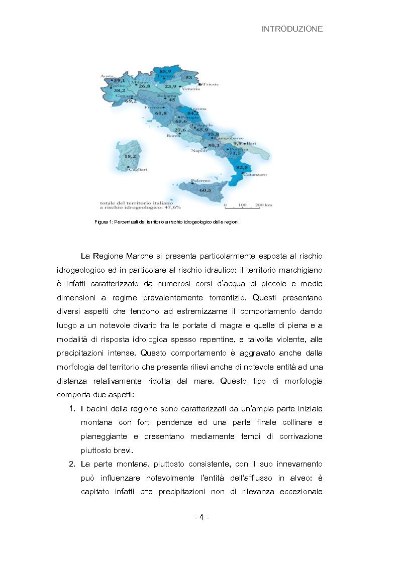 Anteprima della tesi: Analisi della vulnerabilità del territorio del bacino idrografico del fiume Musone mediante strumenti G.I.S., Pagina 6
