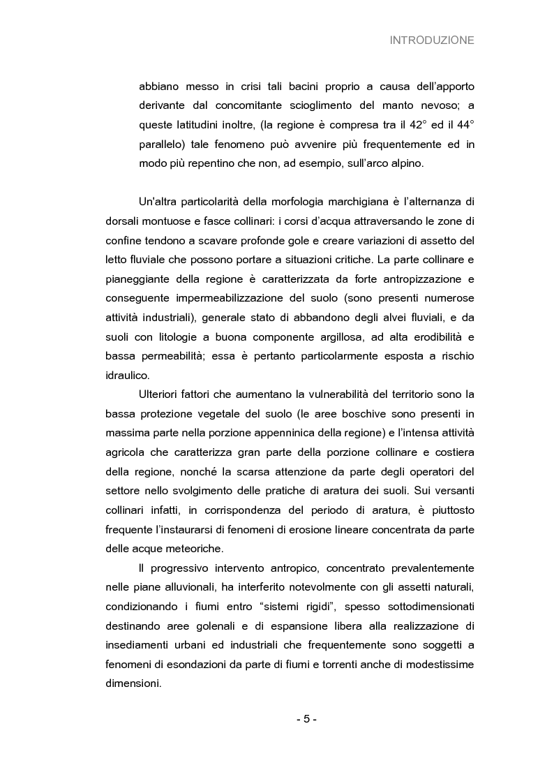 Anteprima della tesi: Analisi della vulnerabilità del territorio del bacino idrografico del fiume Musone mediante strumenti G.I.S., Pagina 7