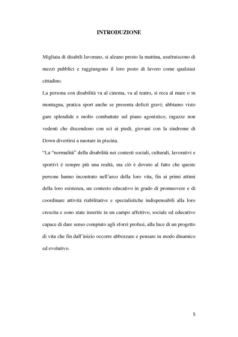 Anteprima della tesi: Diversabilità ed integrazione: riflessioni e strategie per la costruzione di un progetto di vita., Pagina 2