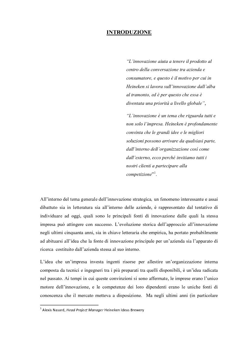 Anteprima della tesi: L'Open Innovation nella prospettiva del Marketing, Pagina 2