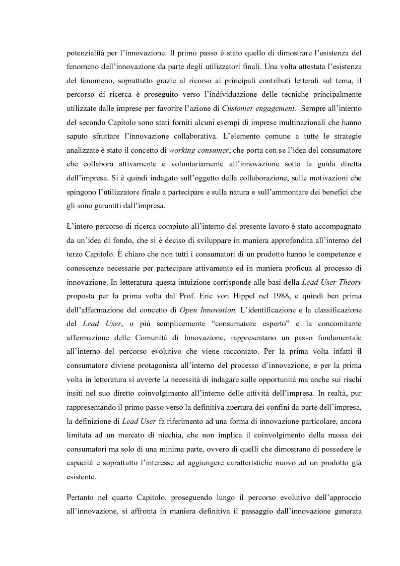 Anteprima della tesi: L'Open Innovation nella prospettiva del Marketing, Pagina 5