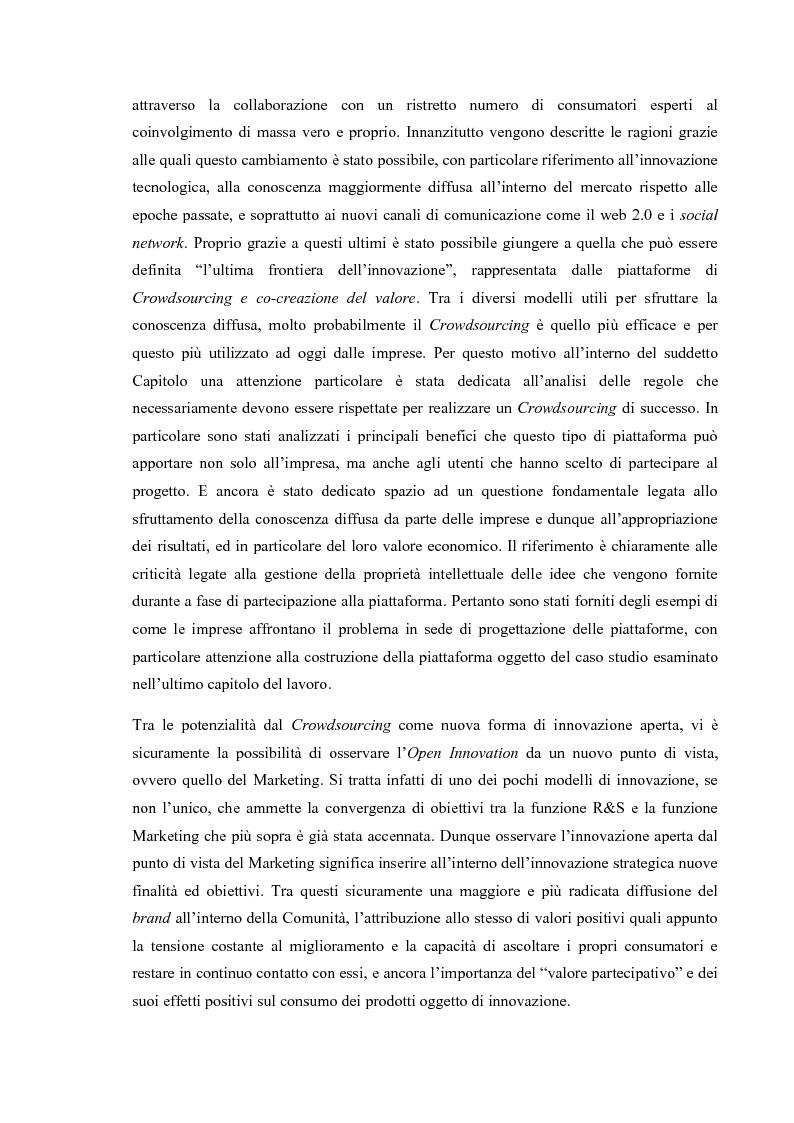 Anteprima della tesi: L'Open Innovation nella prospettiva del Marketing, Pagina 6