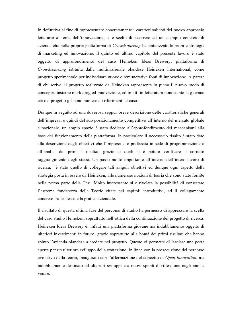 Anteprima della tesi: L'Open Innovation nella prospettiva del Marketing, Pagina 7