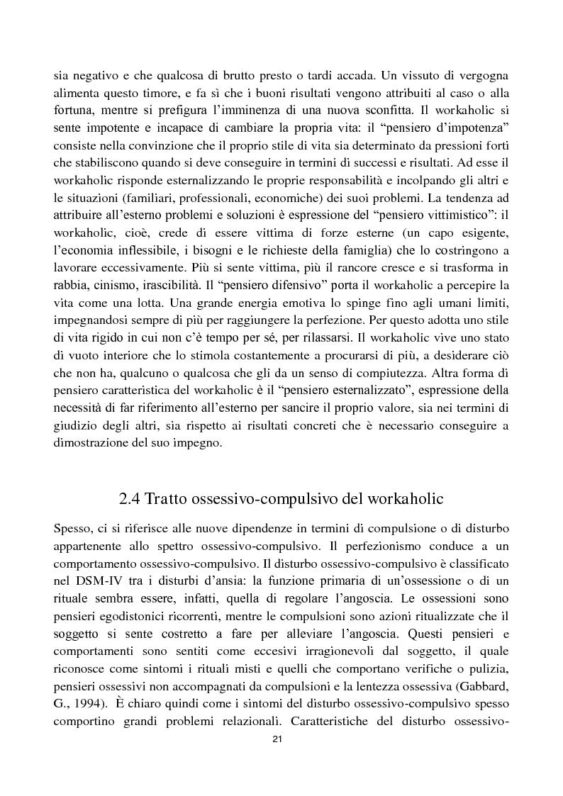 Anteprima della tesi: Dipendenza da lavoro. Work Addiction e Workaholism, Pagina 4