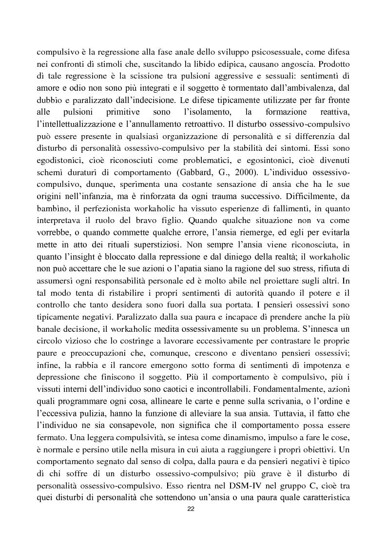 Anteprima della tesi: Dipendenza da lavoro. Work Addiction e Workaholism, Pagina 5