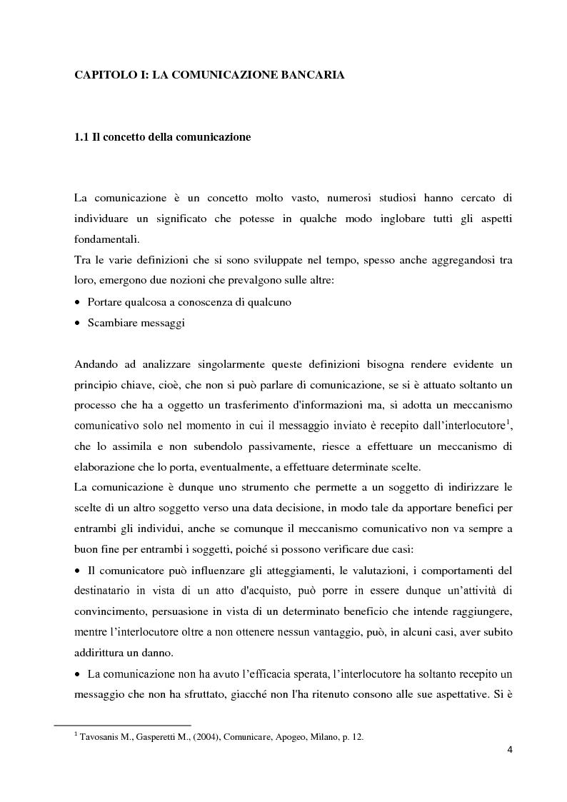 Anteprima della tesi: Strategie e strumenti di comunicazione nel settore bancario, Pagina 5