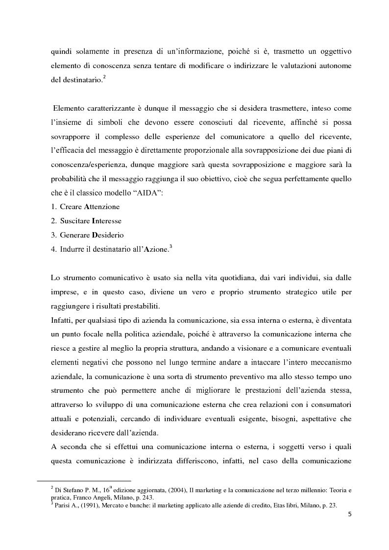 Anteprima della tesi: Strategie e strumenti di comunicazione nel settore bancario, Pagina 6