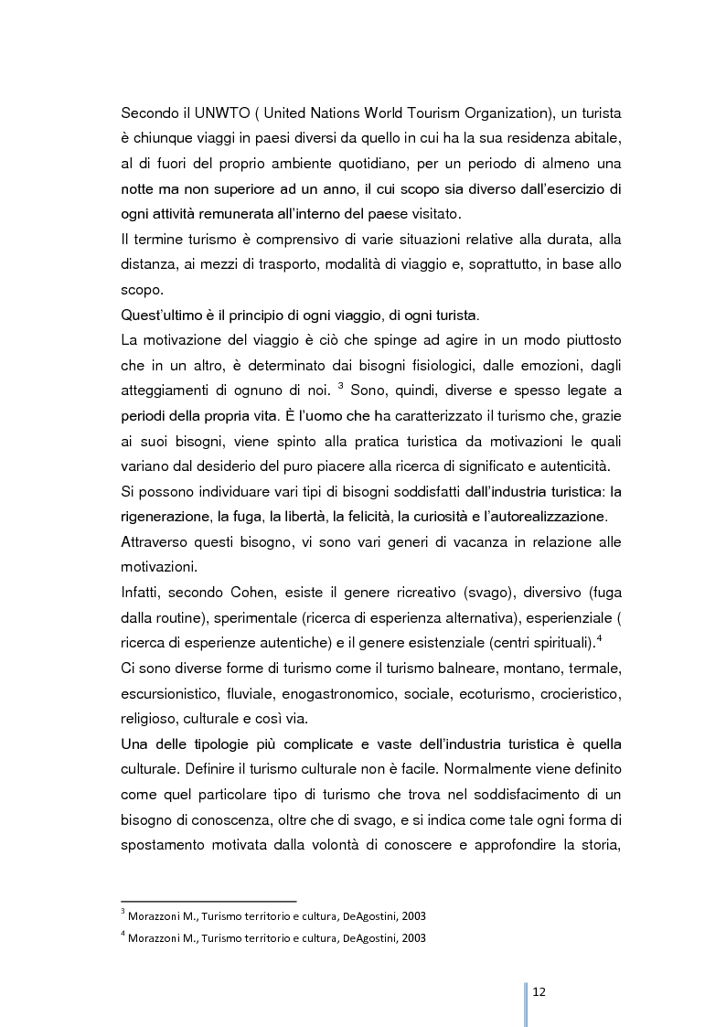 Anteprima della tesi: Riqualificazione e valorizzazione del sistema turistico-culturale della provincia di Foggia, Pagina 8