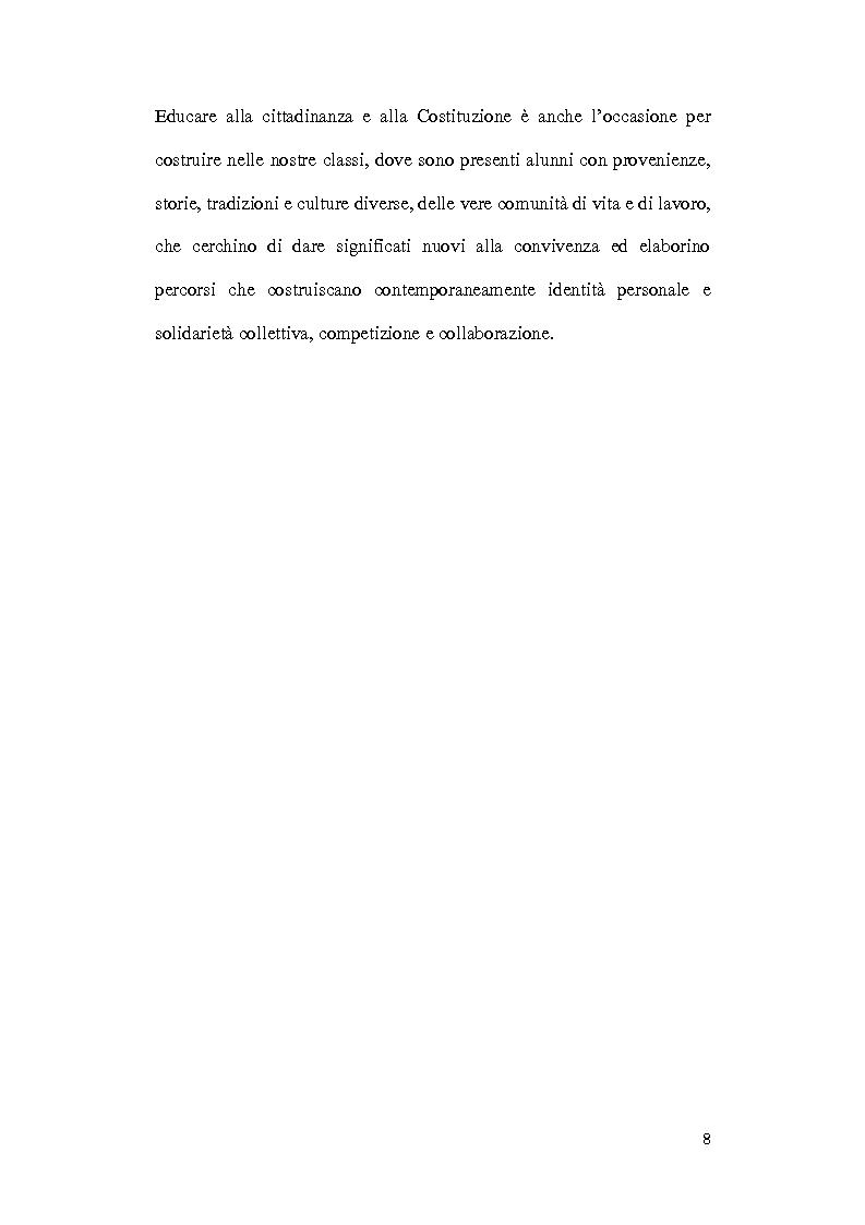 Anteprima della tesi: Dalle aule parlamentari alle aule scolastiche: l'insegnamento della Costituzione ai bambini, Pagina 6