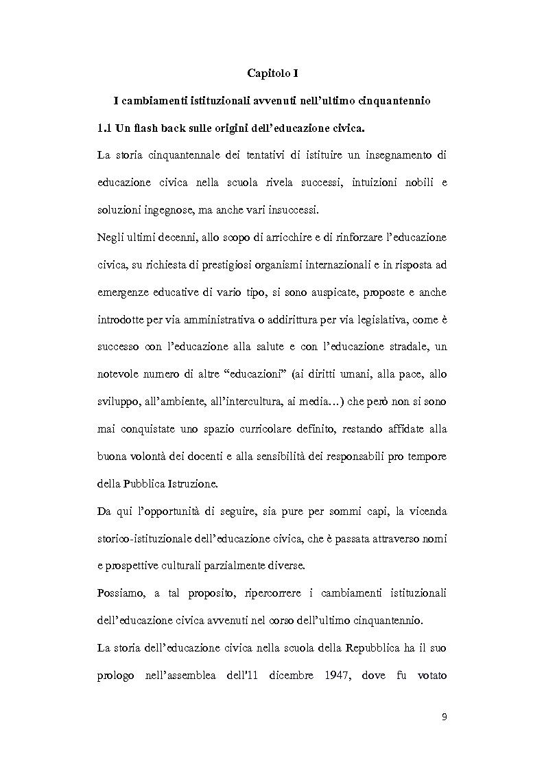 Anteprima della tesi: Dalle aule parlamentari alle aule scolastiche: l'insegnamento della Costituzione ai bambini, Pagina 7