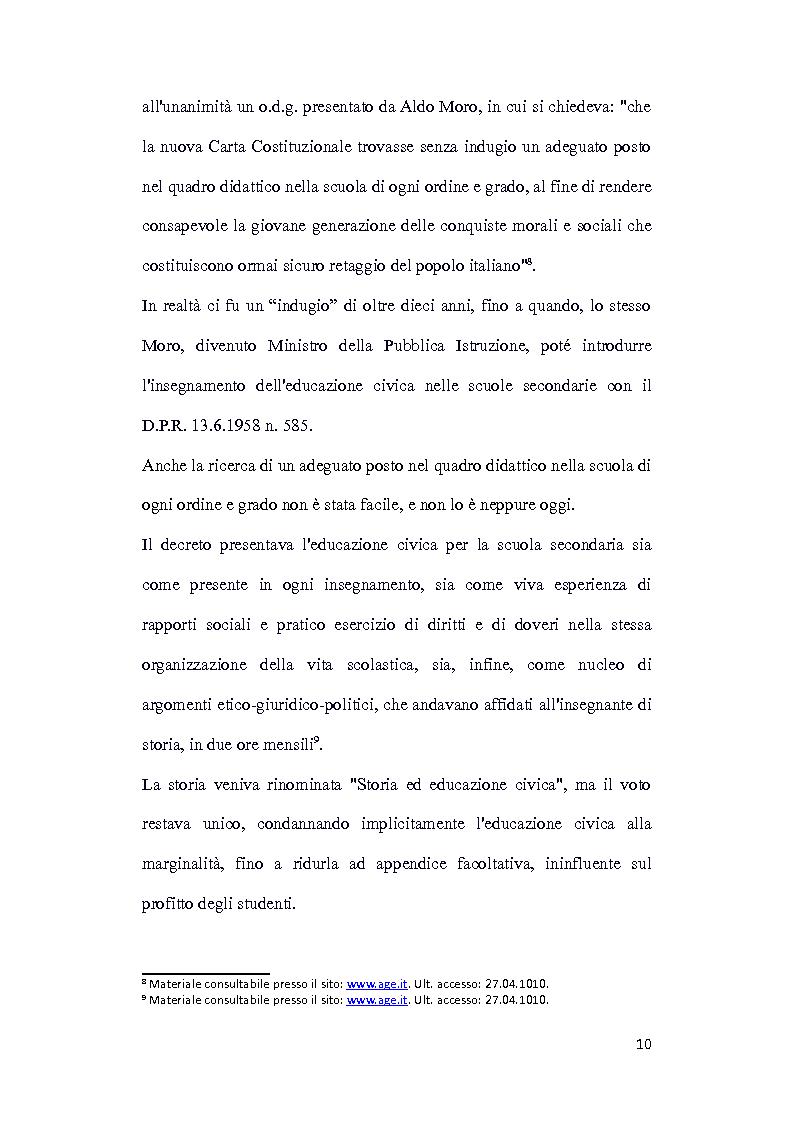 Anteprima della tesi: Dalle aule parlamentari alle aule scolastiche: l'insegnamento della Costituzione ai bambini, Pagina 8