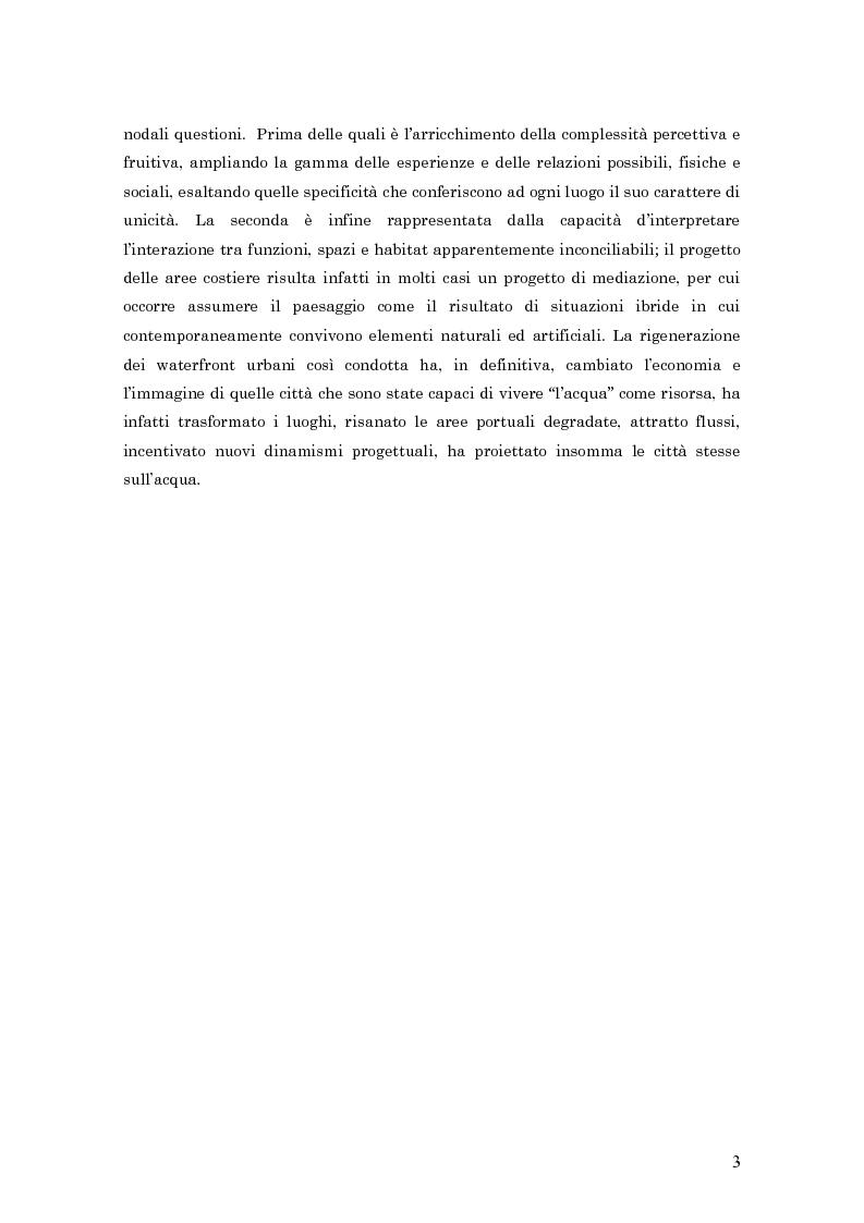 Anteprima della tesi: Palermo Costa Sud - un parco urbano costiero come opportunità per rivivere il mare, Pagina 3