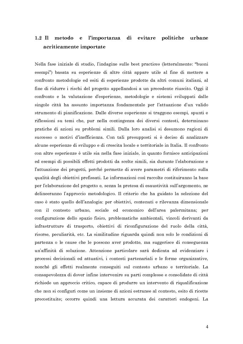 Anteprima della tesi: Palermo Costa Sud - un parco urbano costiero come opportunità per rivivere il mare, Pagina 4