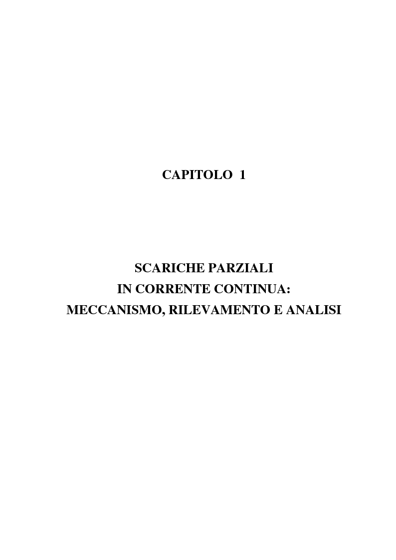 Anteprima della tesi: Fenomeni di scariche parziali in sistemi HVDC: caratteristiche e metodologie diagnostiche, Pagina 4