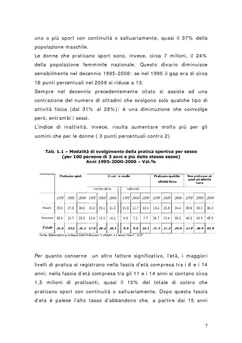 Anteprima della tesi: Il settore del calcio professionistico in Italia: spettacolo e business, Pagina 6