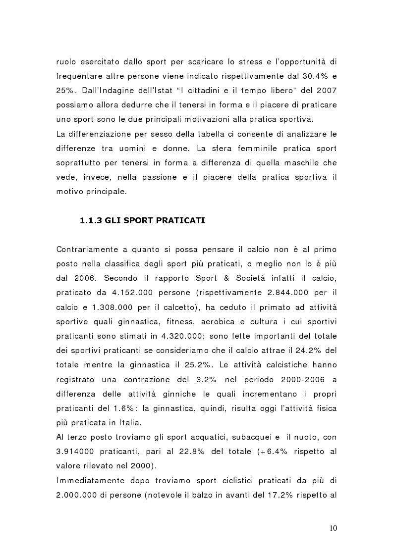 Anteprima della tesi: Il settore del calcio professionistico in Italia: spettacolo e business, Pagina 9
