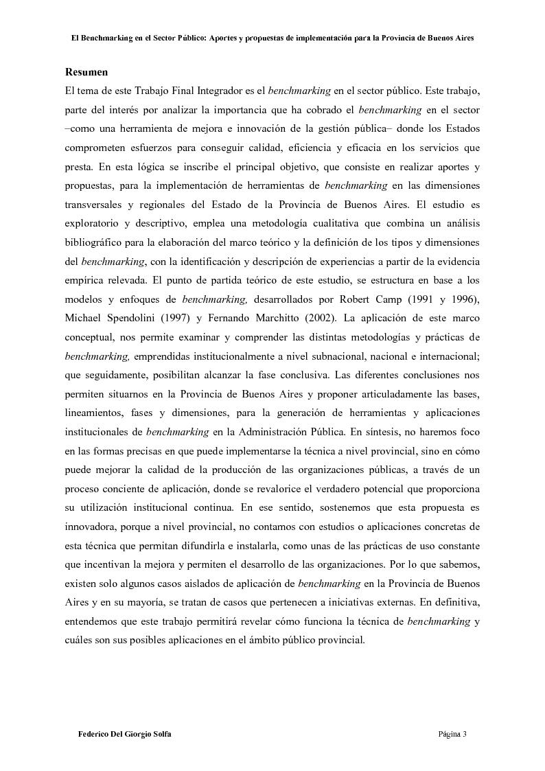 Benchmarking thesis