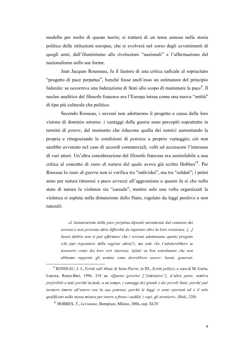 Anteprima della tesi: Europeismo e federalismo dal secondo dopoguerra al Trattato di Roma (1945-1957), Pagina 6