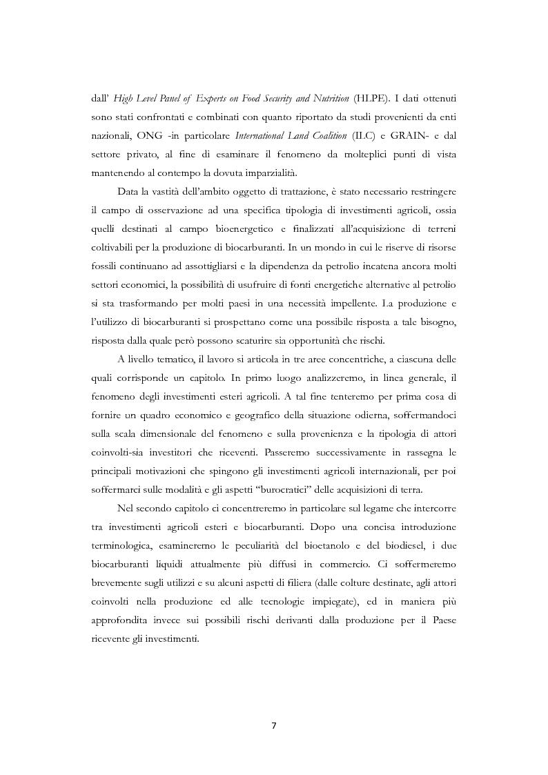 Anteprima della tesi: Land Grabbing e biocarburanti, Pagina 4