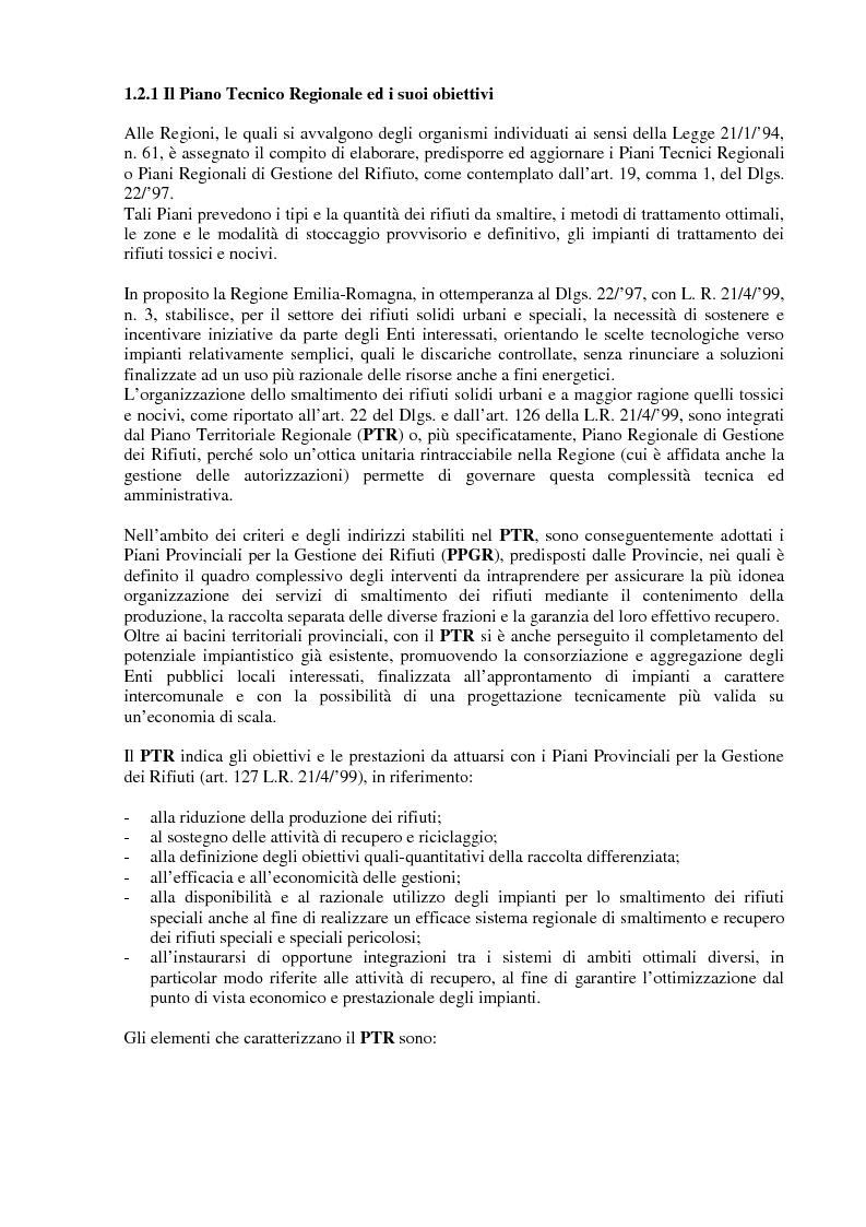 Anteprima della tesi: Criteri di scelta ottimali per la dislocazione di discariche di rifiuti solidi urbani sul territorio, Pagina 8