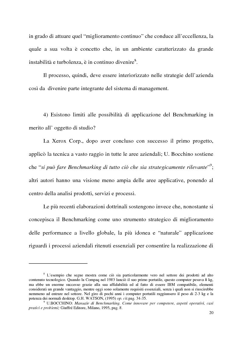 Anteprima della tesi: Benchmarking come strumento a supporto del cambiamento organizzativo. L'ipotesi di applicazione in Elsag Bailey., Pagina 14