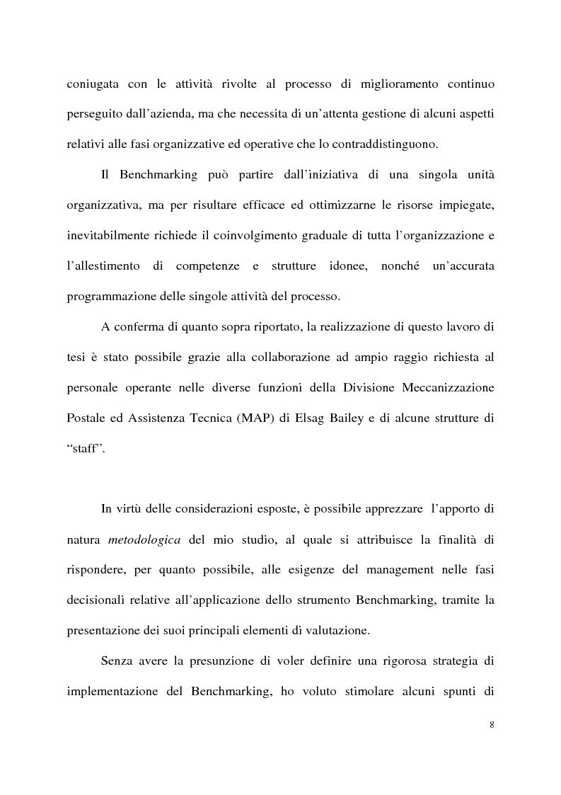 Anteprima della tesi: Benchmarking come strumento a supporto del cambiamento organizzativo. L'ipotesi di applicazione in Elsag Bailey., Pagina 2
