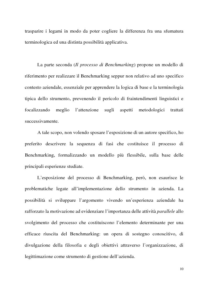 Anteprima della tesi: Benchmarking come strumento a supporto del cambiamento organizzativo. L'ipotesi di applicazione in Elsag Bailey., Pagina 4