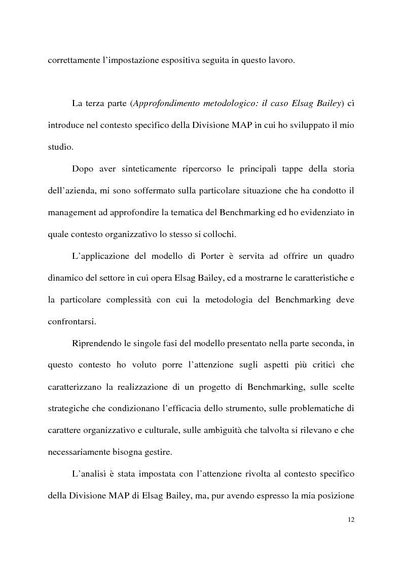 Anteprima della tesi: Benchmarking come strumento a supporto del cambiamento organizzativo. L'ipotesi di applicazione in Elsag Bailey., Pagina 6