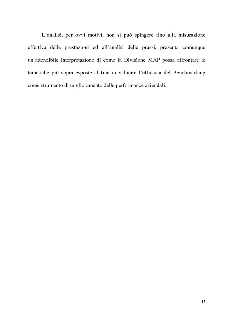 Anteprima della tesi: Benchmarking come strumento a supporto del cambiamento organizzativo. L'ipotesi di applicazione in Elsag Bailey., Pagina 9