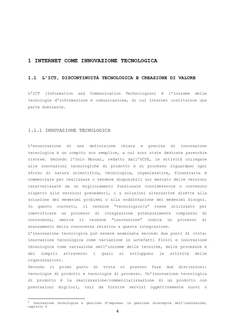 L'e-commerce innovativo: studio del