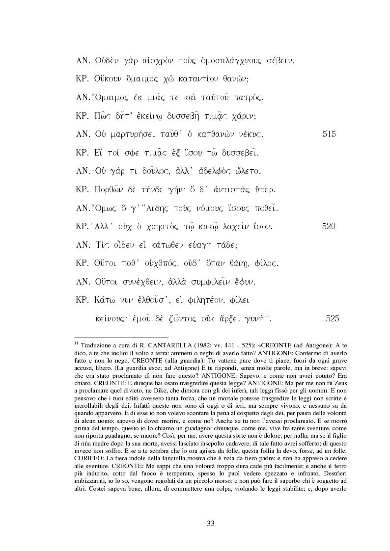 Estratto dalla tesi: ''Antigone'': individuo e ragion di stato da Sofocle ad Alfieri