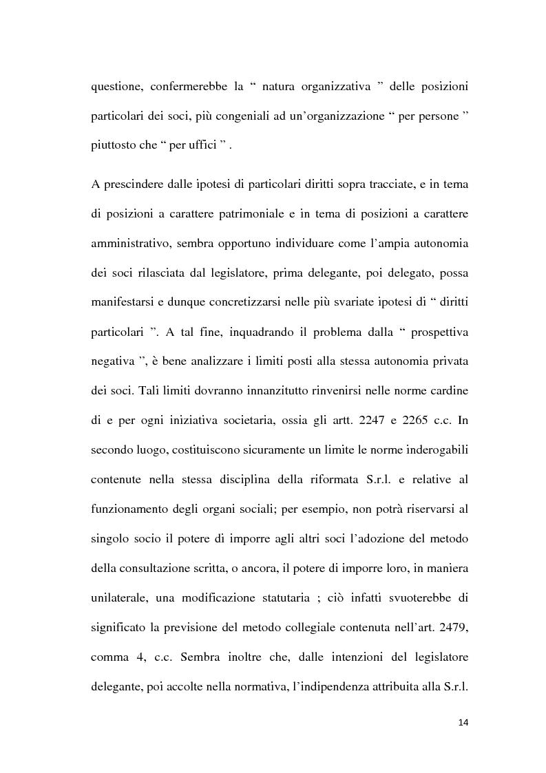 Anteprima della tesi: Amministrazione e controllo nella Società a Responsabilità Limitata, Pagina 11